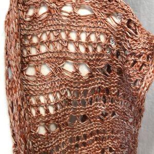 Kori Jackets & Coats - Crocheted knee length vest. Burnt orange color!